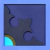 ZAFAT Bluebird mata stołowa libańska 18x18