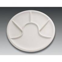 Kuchenprofi biały talerz do fondue 25 cm