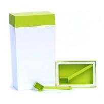 O`lala pojemnik prostokątny, 4 l, biało-zielony