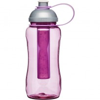 Sagaform butelka plastikowa z wkładem na lód róż