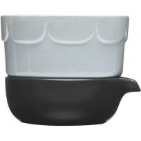 Sagaform doniczka z podstawką lawenda ceramika