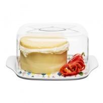 Sagaform pojemnik na ser z pokrywą - porcelana