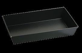 SNB czarna blacha non-stick 39 x 23,5 x 7 cm
