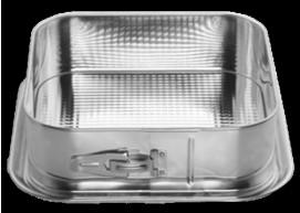 SNB tortownica kwadrat z blachy ocynkowanej 24 cm