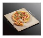 Kuchenprofi kamień do pieczenia pizzy, na stalowym stojaku, 38 x 35 cm