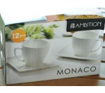 Ambition serwis kawowy filiżanki Monaco 12 el.