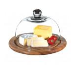Zassenhaus deska do sera ze szklaną pokrywą, akacja, 25 cm