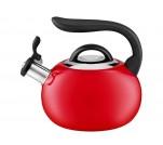 Ambition czerwony czajnik z uchylnym gwizdkiem 2L